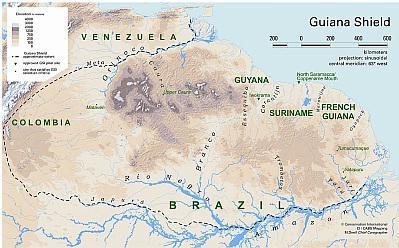 Biodiversiteitscongres voor bescherming Guyana Schild